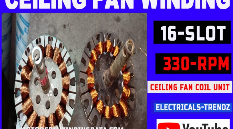 16 slot Ceiling fan stater rewinding | Ceiling fan coil winding| Ceiling fan winding machine|ceiling fan coil unit