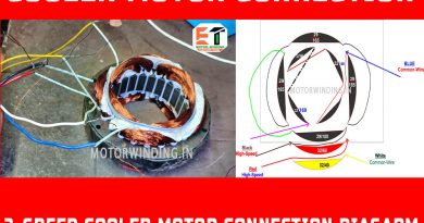 Three speed cooler motor wiring diagram| Electric Motor Cooler Motor Wanding Connection