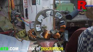 Table fan motor winding data + Connection in HINDI 8 Slot 1440 Rpm by motorwinding.in