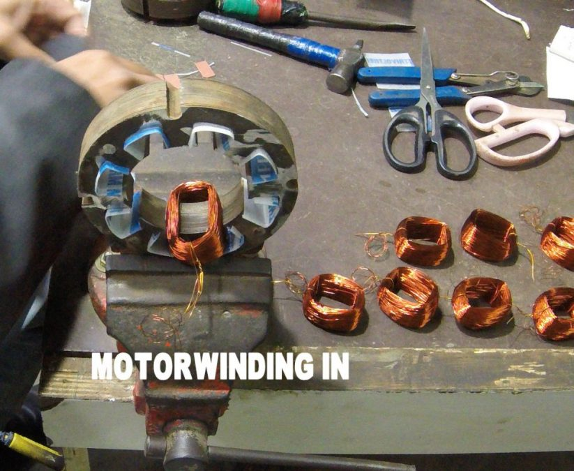 Table fan motor winding data + Connection in HINDI 8 Slot 1440 Rpm