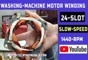 Washing machine Wash Motor winding data and connection