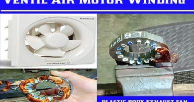 16 Slot Exhaust Fan Motor Winding Data|स्लॉट एग्जॉस्ट फेन मोटर वाइंडिंग कनेक्शन डायग्राम.Mini Exhaust fan motor winding.