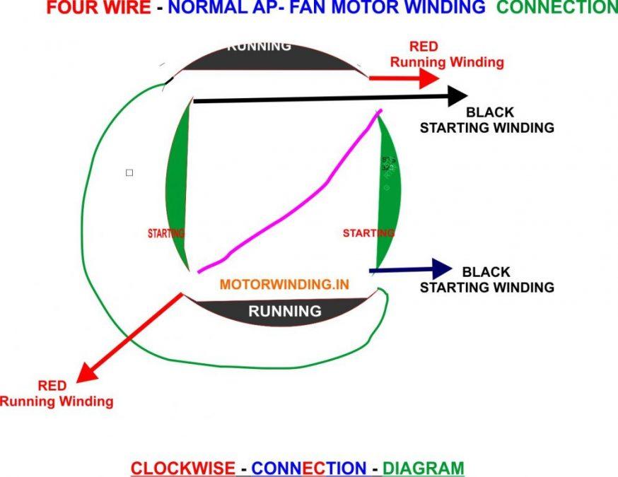AP Fan connection diagram by motorwinding.in