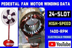 Aluminium Winding farata fan motor winding data Pedestal fan aluminum winding