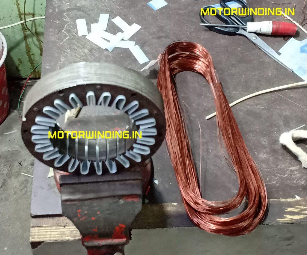 24 Slot Cooler Fan Motor Winding Data In Hindi   1 inch Cooler Fan Motor RewindingWith Copper Wire.