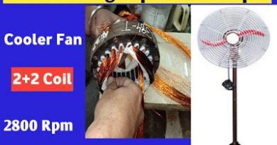 High-speed cooler fan motor winding data In Hindi|Cooler fan ki motor ko high speed me Kaise rewind kare?
