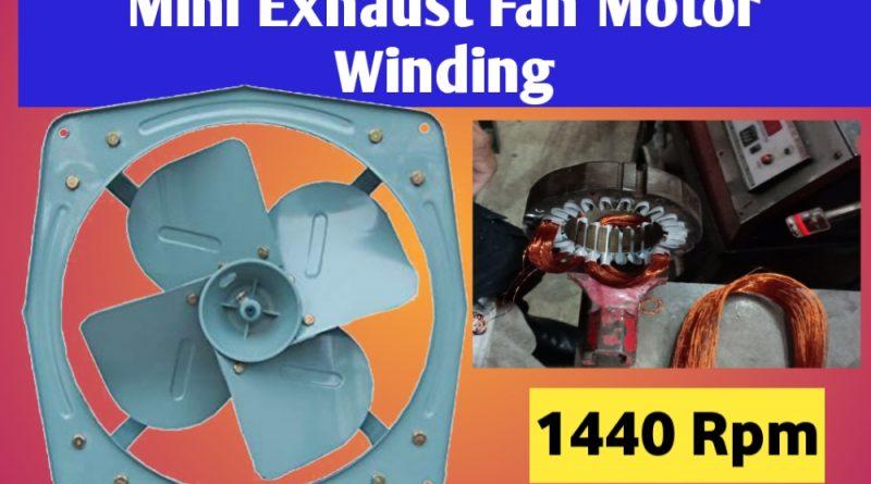 24-Slot Mini Exhaust fan motor