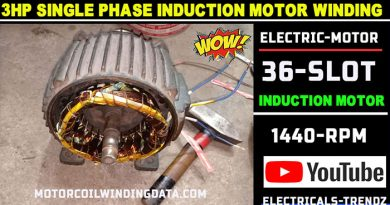 3Hp Single Phase Induction Motor Winding |3Hp Electric Motor |Electric Motor|3 Hp Ac Motor by Technical Topic.3Hp1400 Rpm 36 Slot.