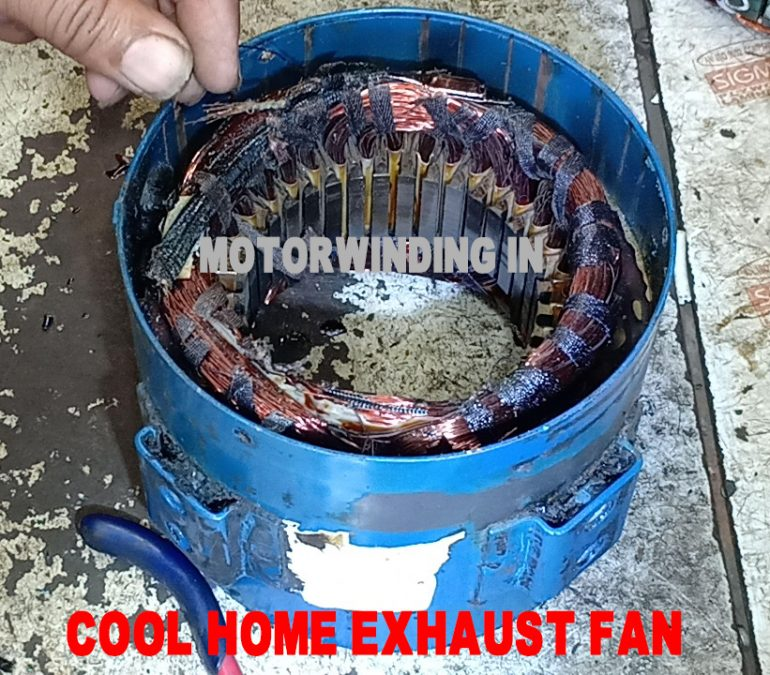 Cool home Cooler Exhaust Fan Rewinding With Connection Diagram.motorwinding.in