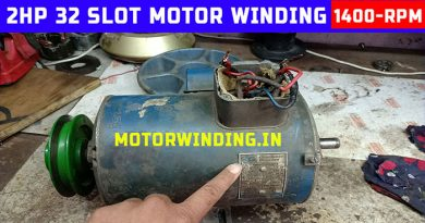 cromton greaves 2hp induction motor winding