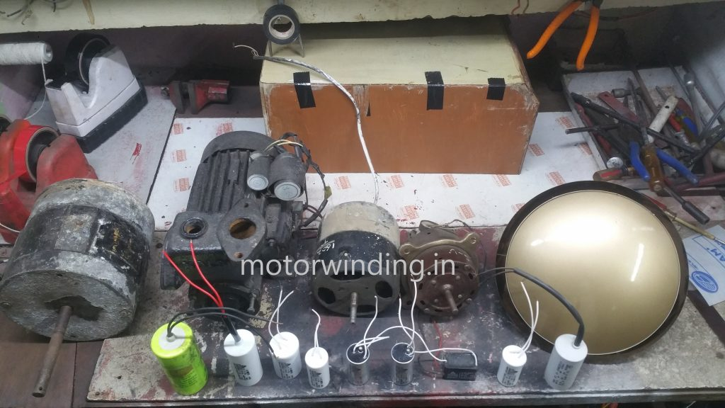 Capacitor Value Of All Fans And Motors.Motor Fan mein kitne ka capacitor lagta hai?by motor winding.in