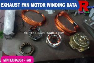 Bathroom Exhaust Fan Motor Winding Data.Exhaust fan motor winding data