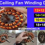 All Ceiling Fan Winding Data.