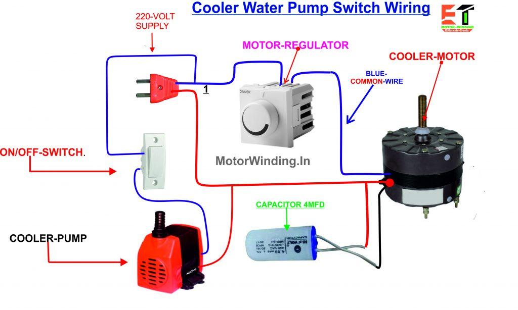 कूलर पंप कनेक्शन कैसे करें?By MotorWinding.In